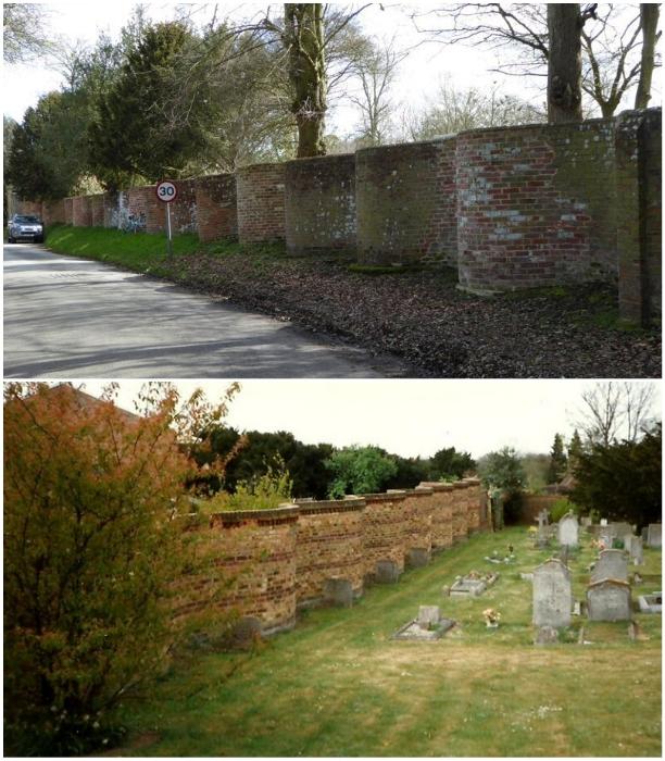 В графстве Суффолк до сих пор можно увидеть извилистые заборы ограждающие даже дороги и кладбища. | Фото: geograph.org.uk/ ih0.redbubble.net.