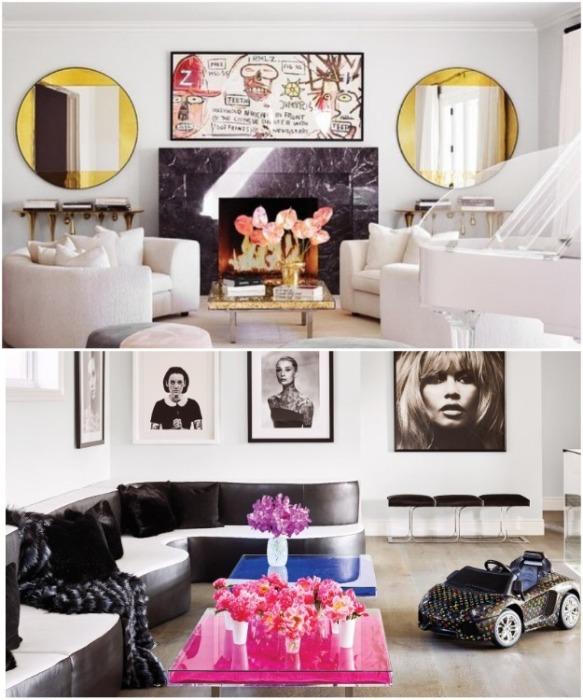 В доме Кайли Дженнер преобладает гламурный стиль. | Фото: bocadolobo.com.