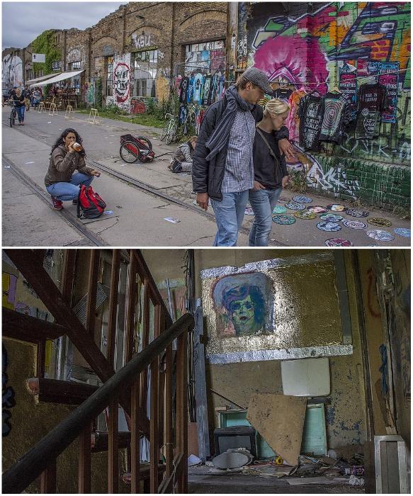Одно дело, если «заселили» заброшенный завод, а другое когда отжали квартиру/дом у семьи (р-н  Фридрихсхайн-Кройцберг, Берлин). | Фото: fishki.net.