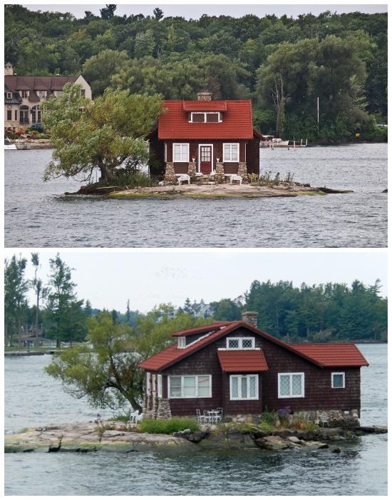 «Just room enough» – самый маленький обитаемый остров мира (Архипелаг «Тысяча островов»). | Фото: montrealex.livejournal.com.