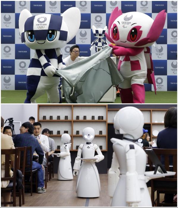 Во время проведения летних Олимпийских игр в 2020 г. гостей столицы будут обслуживать роботы. | Фото: robo-hunter.com/ pinterest.com.