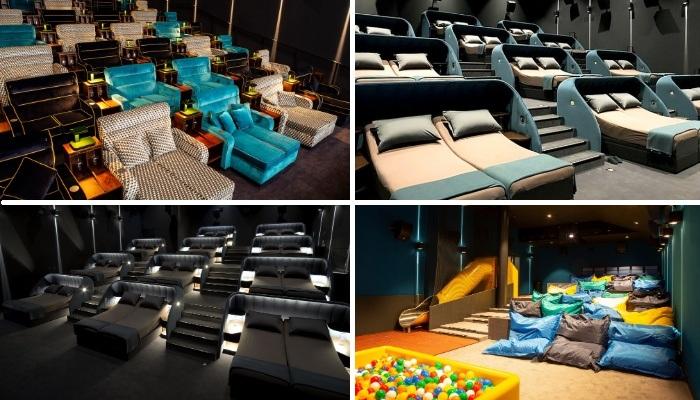 Двухместные кровати заменили традиционные кресла в зрительном зале кинотеатра «VIP bedroom» (Швейцария).