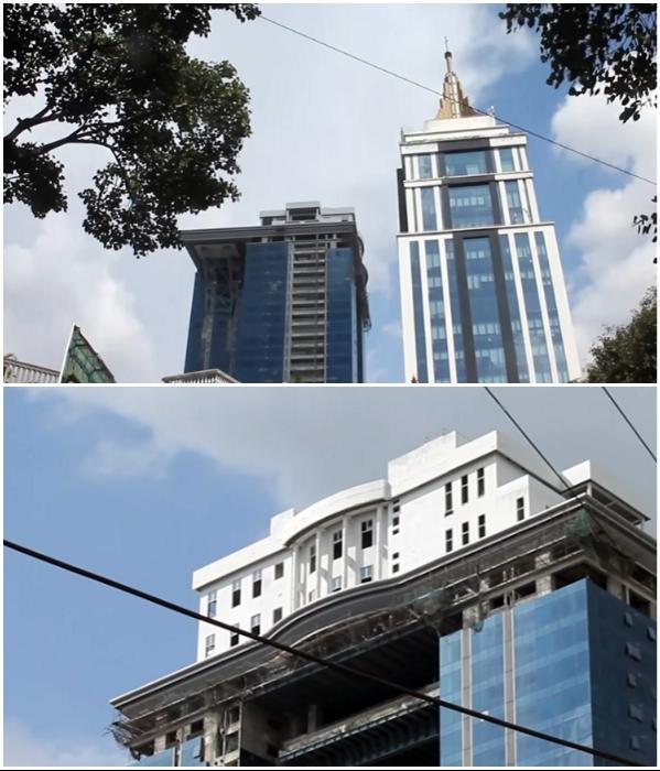 Элитный небоскреб Kingfisher Tower-Residences был построен в одном из лучших районов Бангалора (Индия). Фото: youtube.com/ © The Times of India.
