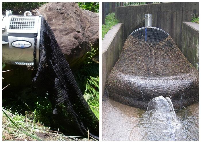 Обычный сетчатый мешок может помочь предотвратить экологическую катастрофу (Kwinana, Австралия).