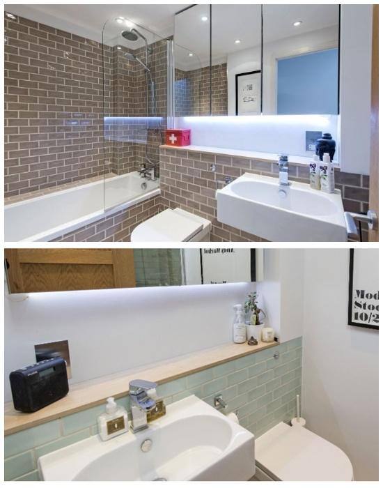 В Slim House удалось обустроить несколько ванных комнат и санузлов. | Фото: tips-and-tricks.co.