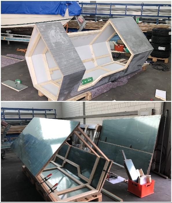 В разработке мобильной капсулы для бездомных участвовали специалисты из разных отраслей (Ulmer Nester, Германия).