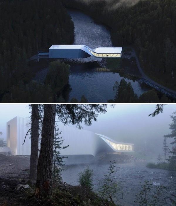 Мост-музей Twist был открыт осенью 2019 г. в парке скульптур Кистефос (Норвегия). | Фото: archidizain.ru.