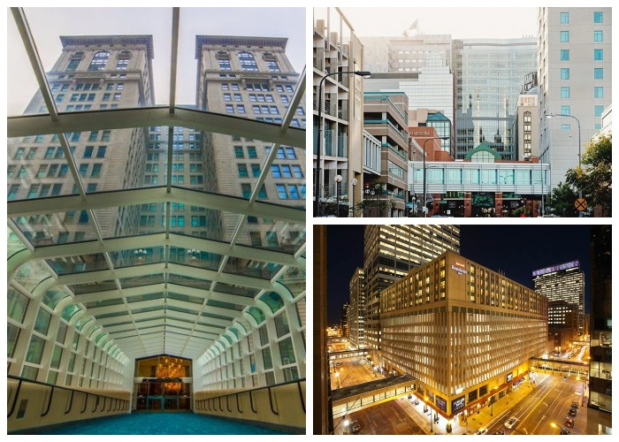Огромное количество веток сети соединяют важнейшие учреждения, бизнес центры и отели города (Minneapolis Skyway System). | Фото:  blog.radisson.ru.