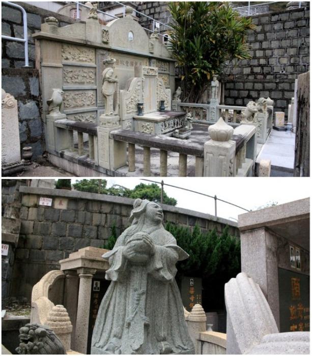 На Абердинском кладбище все могилы расположены по фэншую (Гонконг). | Фото: livejournal.com.
