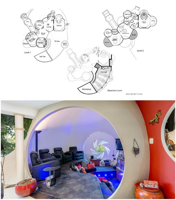 Частная резиденция австралийского архитектора состоит из 11 пересекающихся куполов-пузырей («Bubble House», Австралия). | Фото: newatlas.com/ interestingengineering.com.
