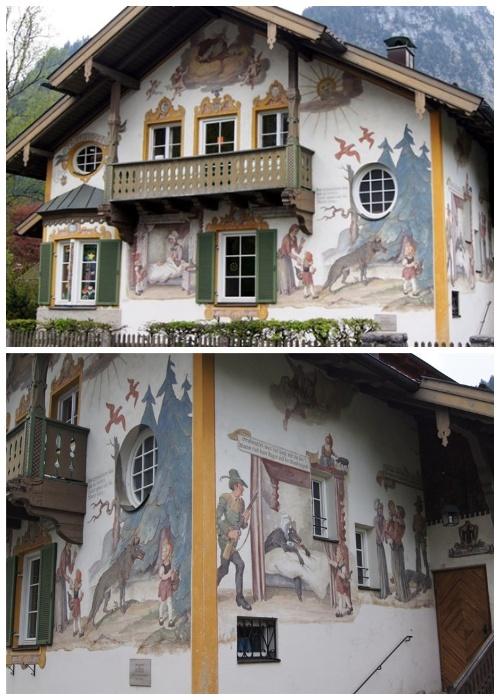 В деревне можно найти и дом Красной шапочки, который был создан его последователями в 1953 году (Обераммергау, Германия).