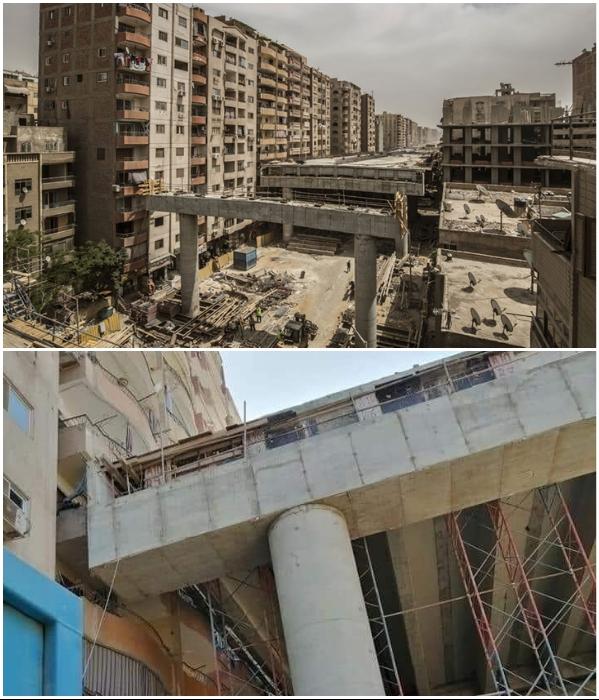 Из-за строительства скоростной эстакады тысячи жителей улицы Наср Эль-Дин оказались заложниками в собственных квартирах (Гиза, Египет). | Фото: totalcar.hu/ nordkurier.de.