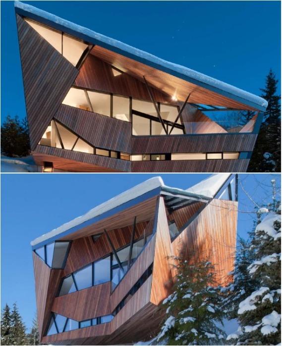 Необычный загородный домик Hadaway House в Британской Колумбии (Канада). | Фото: designboom.com.