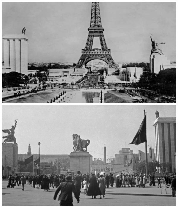 Павильон СССР на Всемирной выставке в Париже (фото 1937 г).