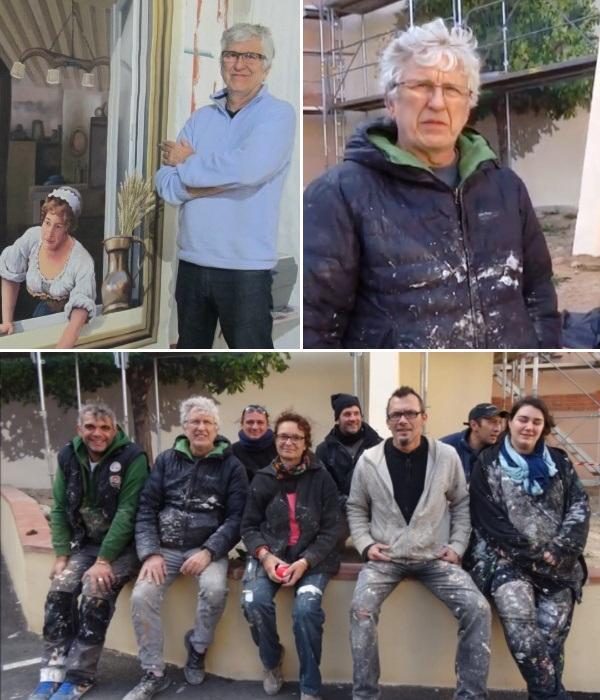 Patrick Commecy и художники-муралисты студии A.Fresco превращают унылые фасады в реалистичные иллюзии.   Фото: youtube.com/ KlausBauerOne.