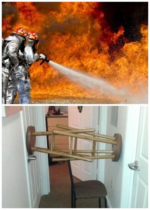 Чтобы не было неприятных неожиданностей, дверь должна открываться внутрь квартиры.
