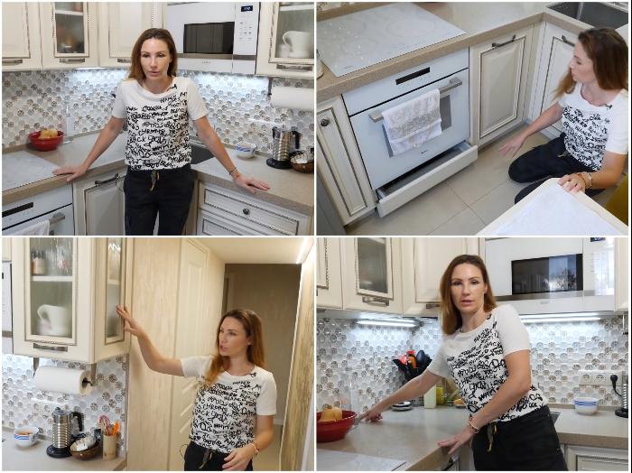 Реальное преобразование крошечной кухни на личном примере. | Фото: youtube.com/ © Irin Andrez.