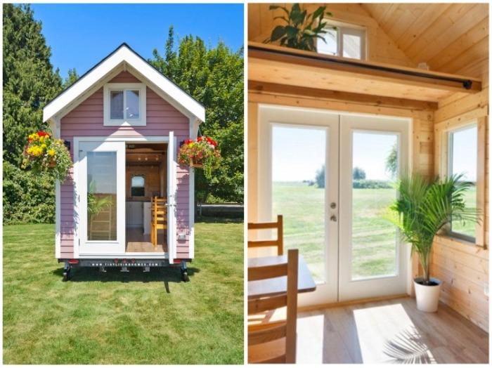 Стеклянная дверь идеально подходит для маленьких площадей(«Poco Pink», Канада). | Фото:  littlethings.com.
