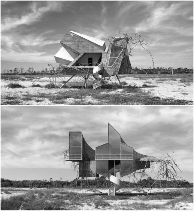 Дионисио Гонсалес создает проекты, которые дают возможность быстро и с минимальными затратами возвести подобные объекты, обеспечив людей доступным жильем (серия «Inter-actions»). | Фото: dionisiogonzalez.es/ Dionisio Gonzalez.