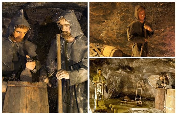 Восковые фигуры  в подземном соляном городе.