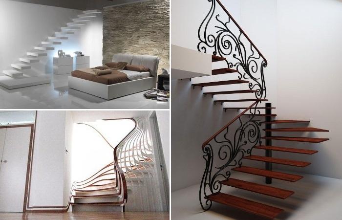Изысканные линии лестниц демонстрируют бесконечные возможности дизайна.