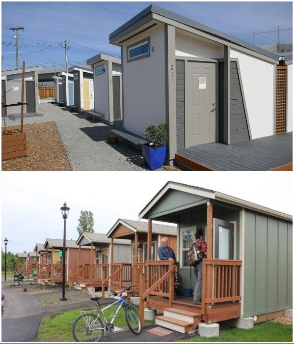 В Калифорнии построено 3 закрытых жилых комплекса для бездомных (Сан-Хосе, США). | Фото: topgambarrumah.blogspot.com/ california.comcast.com.