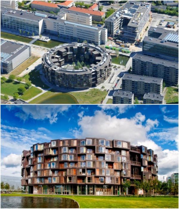 Круглая форма здания символизирует равенство и единство (Tietgenkollegiet, Копенгаген). | Фото: iremlandscape.wordpress.com.