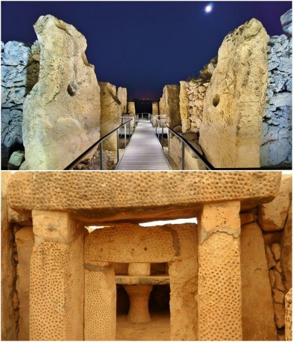 Пять апсид, обнаруженных в Джгантии, содержат различные алтари, у которых проходили обряды с жертвоприношением. | Фото: malta2u.com.