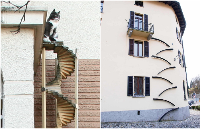 Изысканные формы лестниц становятся украшением фасадов.