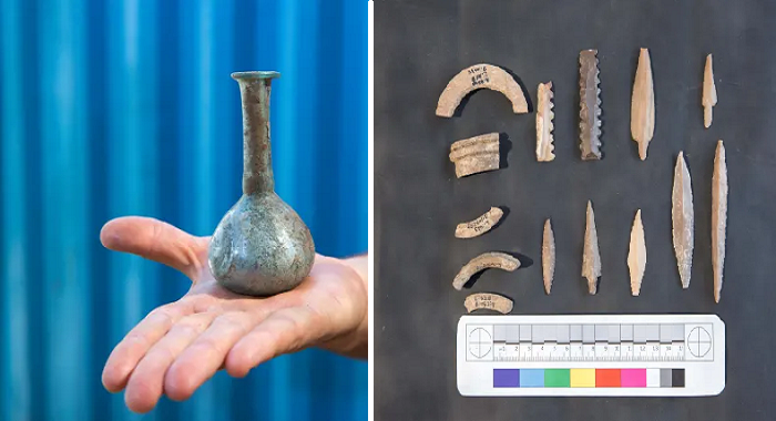 Последние артефакты, найденные в неолитическом мегаполисе вблизи города Motza (Израиль). | Фото: Olivier Fitoussi/ Israel Antiquities Authority.