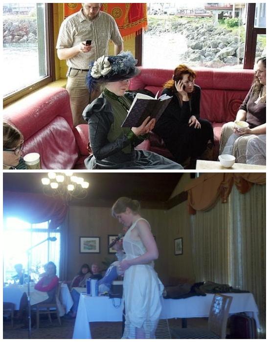 Сара часто проводит презентации своих книг и рассказывает много интересных историй о жизни в XIX веке.