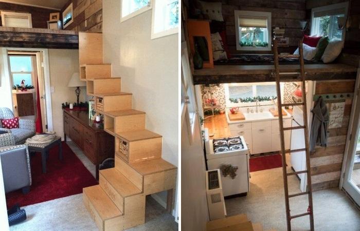 Для увеличения жизненного пространства Мишель Бойль сделала высокий потолок (My Empty Nest»).   Фото: youtube.com.