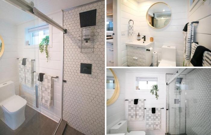 В доме из грузового контейнера получилась полноценная ванная комната. | Фото: pinterest.com.