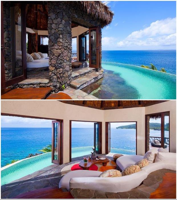 Фантастическая вилла Hilltop Estate среди первозданной природы острова Лаукала (отель Laucala Island Resort).