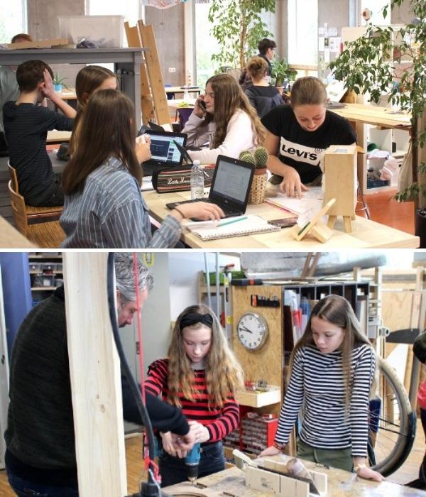 Каждый ученик занимается тем, что ему интересно, тренер лишь может научить практическим навыкам (Agora College, Нидерланды). | Фото: lifter.com.ua.