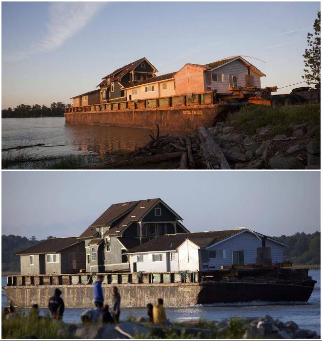 В Канаде технология перемещения каркасных домов поставлена на поток. © Ben Nelms, Reuters.