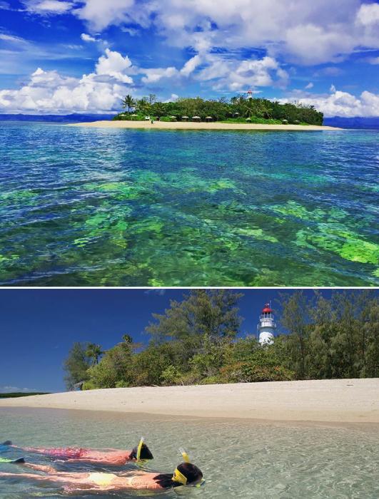 В обязанности смотрителя входит и поддержание чистоты на площади 0,5 га (Low Isles, Австралия). | Фото: adventuresportdouglas.com/ cairnstours.net.au.