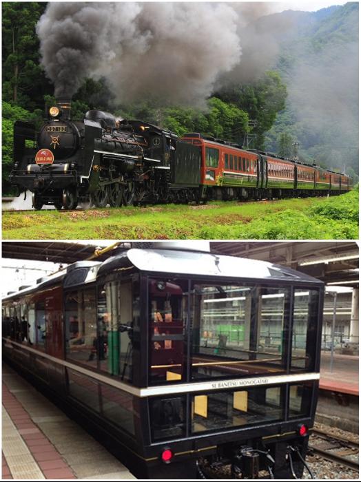 Туристический поезд «SL Banetsu Monogatari» – один из самых старинных составов подобного класса. | Фото: travel.rakuten.com/ jreast.co.jp.