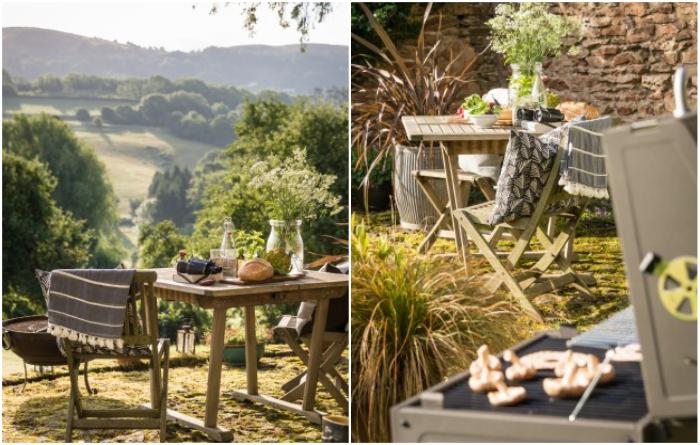 Для организации романтического ужина или сытного обеда на свежем воздухе созданы все условия («Wishbone Cottage»). | Фото: uniquehomestays.com.