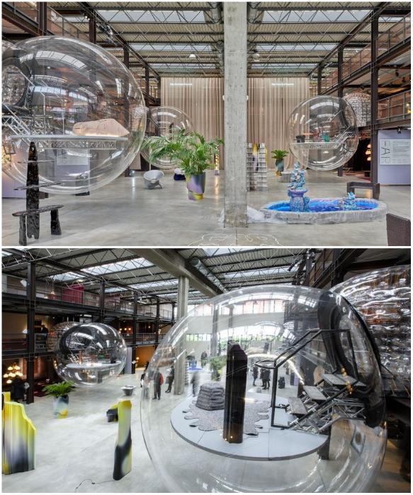 Инсталляция Joseph Grima на выставочной площадке Nilufar Depot di via Lancetti (Италия). | Фото: elledecor.com.