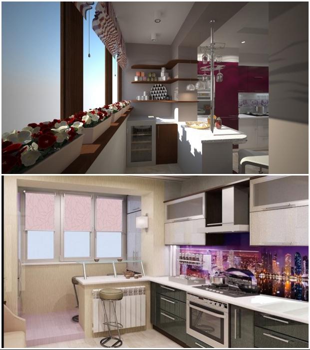 Даже если на объединенной лоджии/балконе поместится лишь холодильник и цветы – это уже большой плюс к полезной площади.
