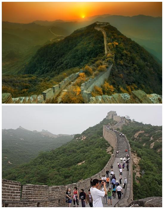 Фрагменты Великой Китайской стены, созданные в конце прошлого века (Китай).
