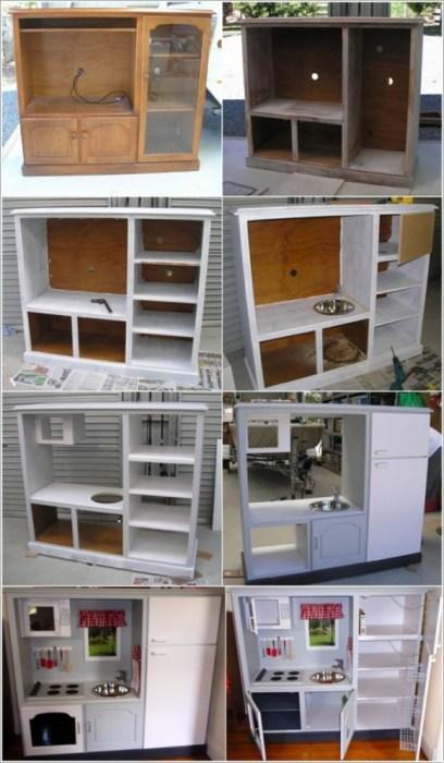 Процесс обновления кухонного гарнитура. | Фото: takprosto.cc.