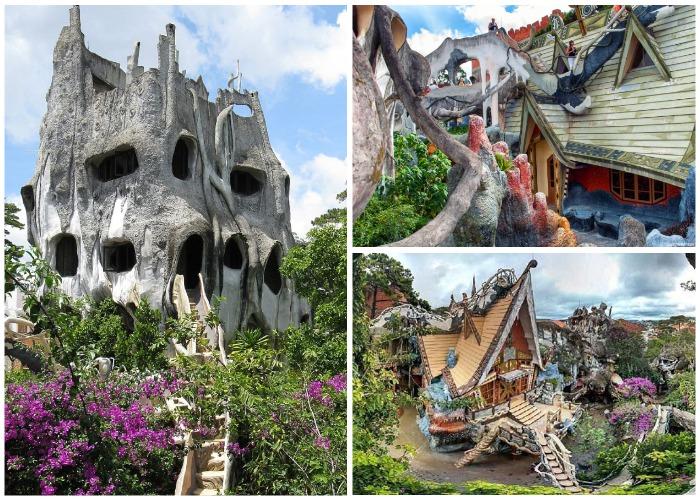 Crazy House входит в ТОП-10 самых невероятных зданий мира (Далат, Вьетнам).