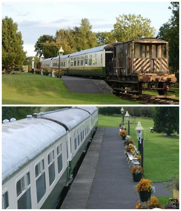 Гостевой дом Станция отдыха создан из списанного железнодорожного подвижного состава.