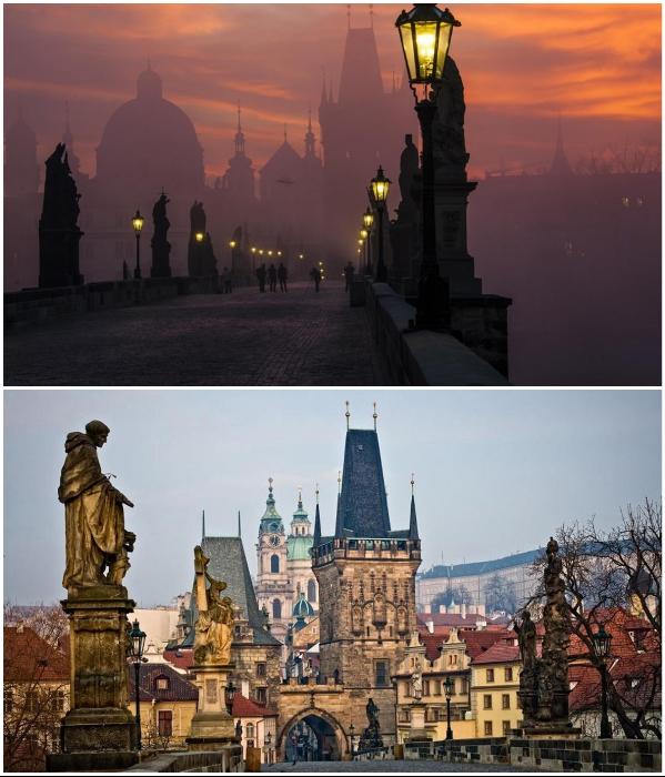 Карлов мост – главная достопримечательность и визитная карточка Праги (Чехия). | Фото: rope-park.com/ ytmturizm.com.tr.