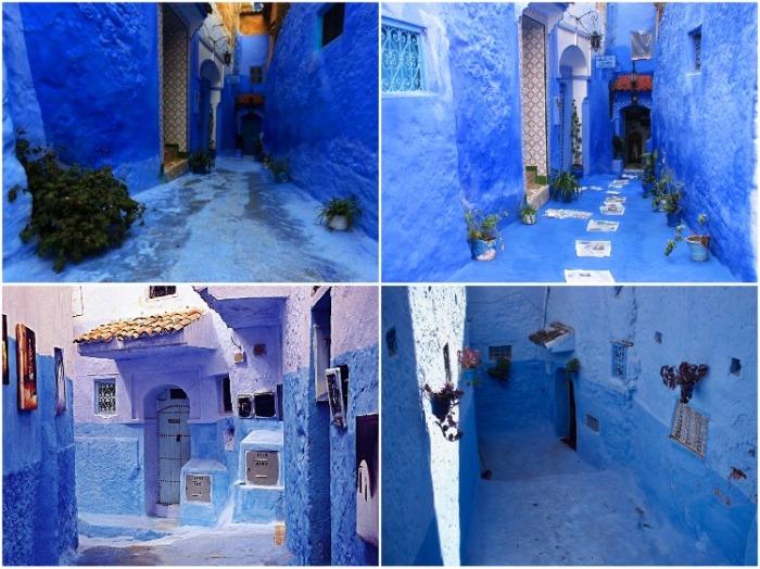 Сотни оттенков синего стали визитной карточкой города (Шефшауэн, Марокко).