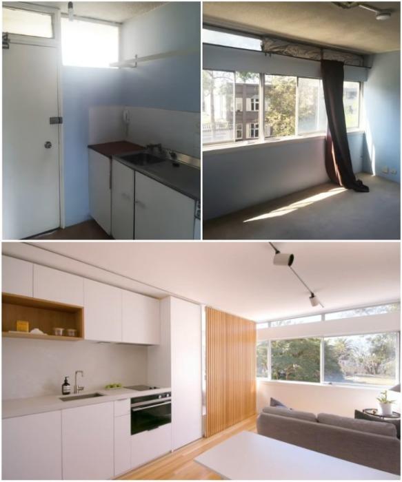 Желание и профессионализм помогли изменить квартиру до неузнаваемости и сделать ее полноценной («Boneca», Сидней). | Фото: youtube.com/ NEVER TOO SMALL.