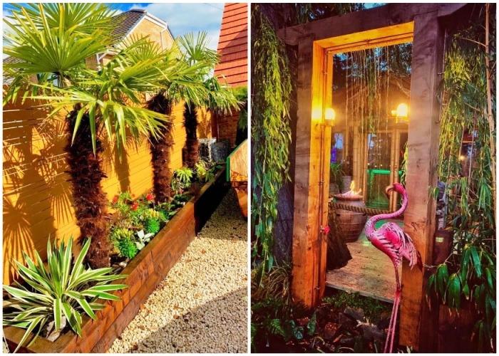 Тропические растения и фигуры обитателей джунглей создают атмосферу умиротворения и покоя. instagram.com.