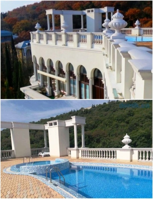 На крыше пятиэтажного элитного дома есть два бассейна и СПА-салон с солярием (ЖК «Император», Ливадия). | Фото: antifashist.com.